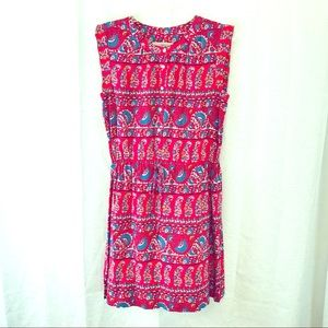 LOFT Sleeveless Drawstring Waist Dress M